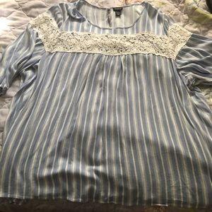 Torrid size 6 striped blouse